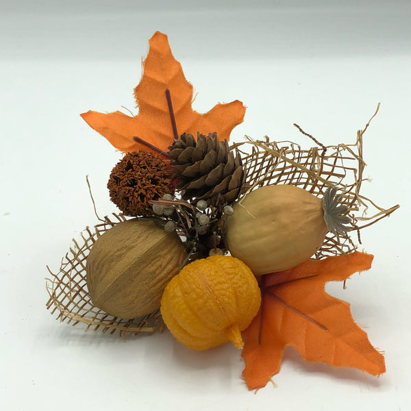 Fall Nuts Leaves & Pinecones Faux Pick