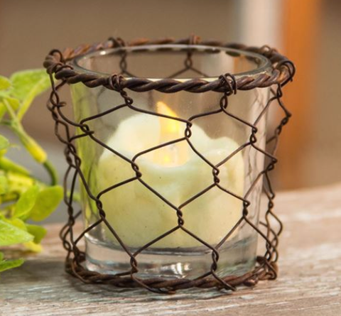 Chicken Wire Votive Holder