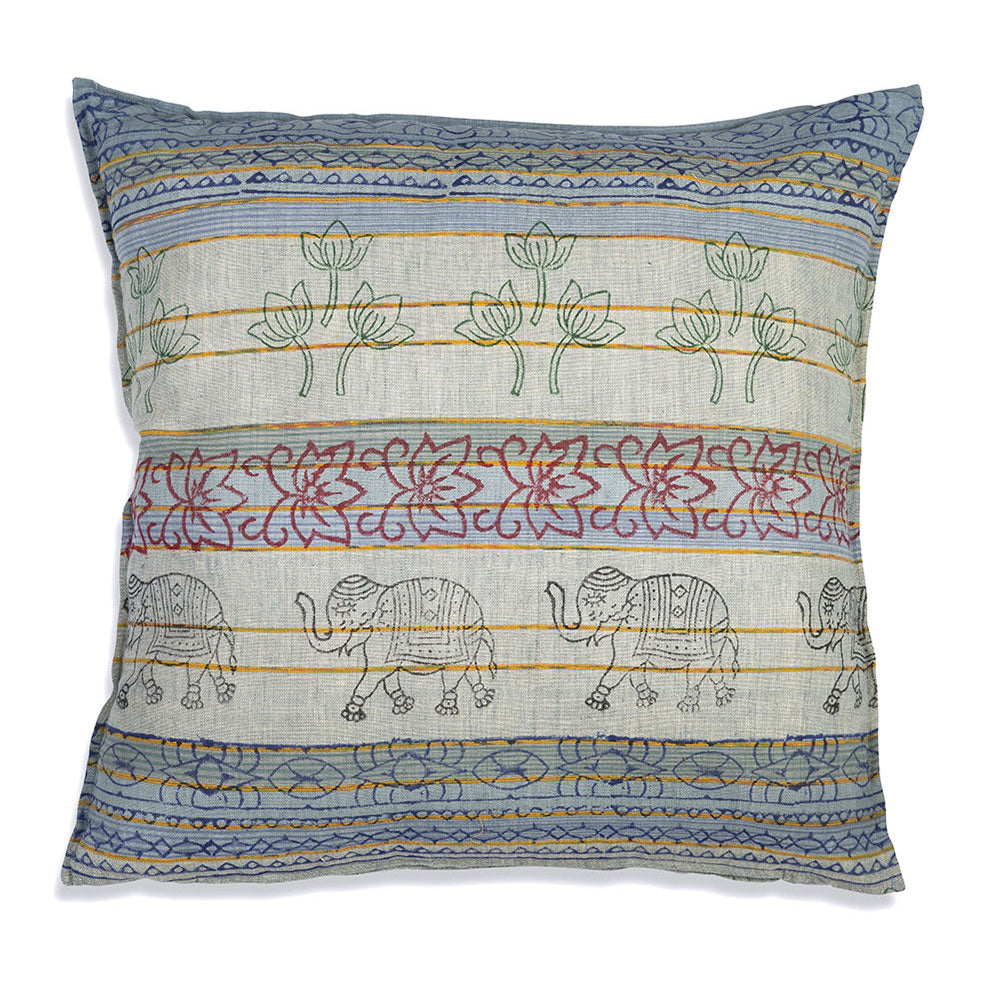 "Large Elephant Eden 26"" Euro Throw Pillow"