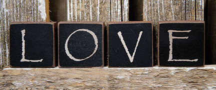 "LOVE Blocks - Spell out your Love - Four 1"" Blocks"