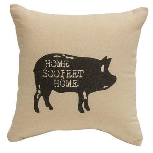 Home Sooieet Home Rustic Pig Pillow