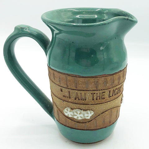 Down to Earth John 9:5 Scripture Pottery Pitcher