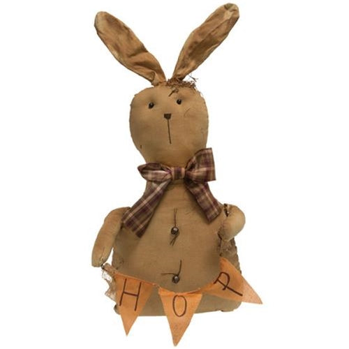 Fabric Bunny with HOP Banner