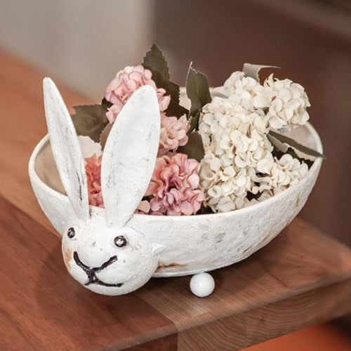 Distressed Bunny Decorating Bowl
