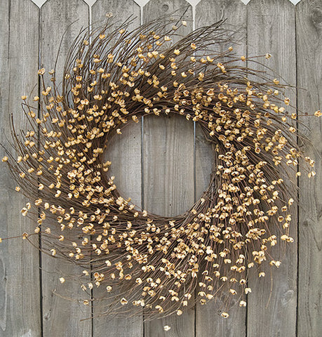 "Teastain Buttercup Natural Style Floral 20"" Wreath"