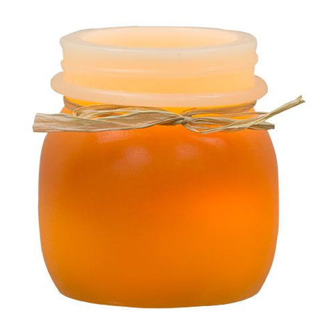 "Candy Corn 3.5"" H Keeping Jar Timer Candle"