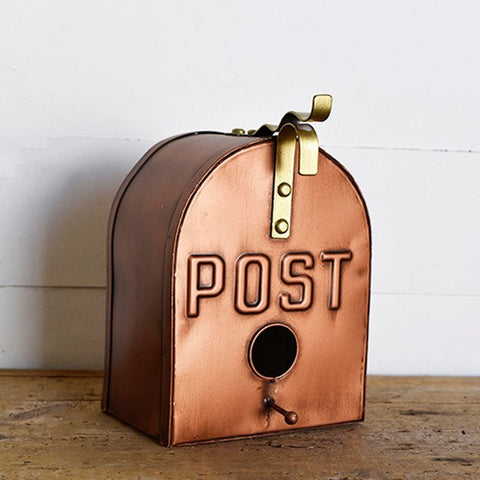 Copper-Tones Post Box Birdhouse