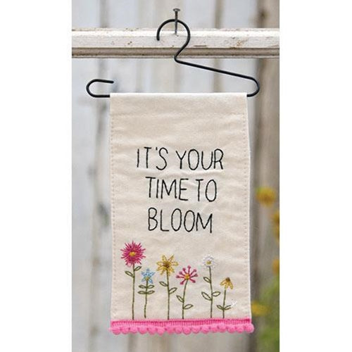 It's Your Time To Bloom Mini Fabric Wall Hanging