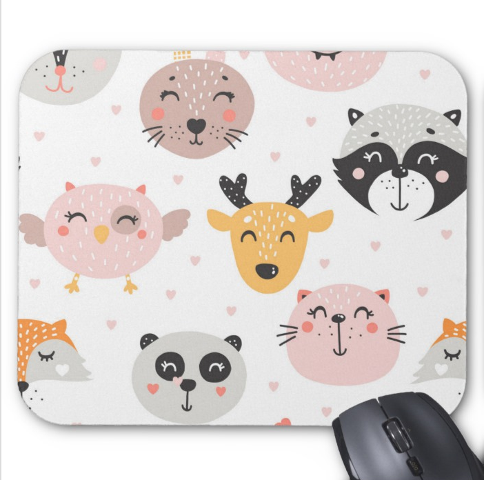 Forest Animals Mousepad - Happy Animals Print - Mouse Pad