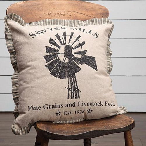 "Sawyer Mills Windmill 18"" x 18"" Pillow"