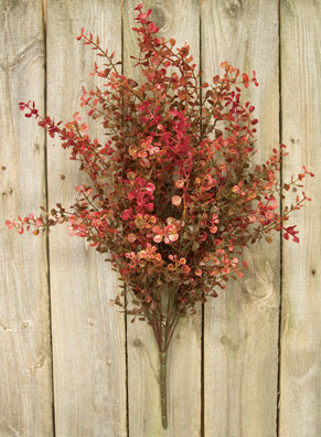 "Red Baby Grass 21"" Faux Bush"