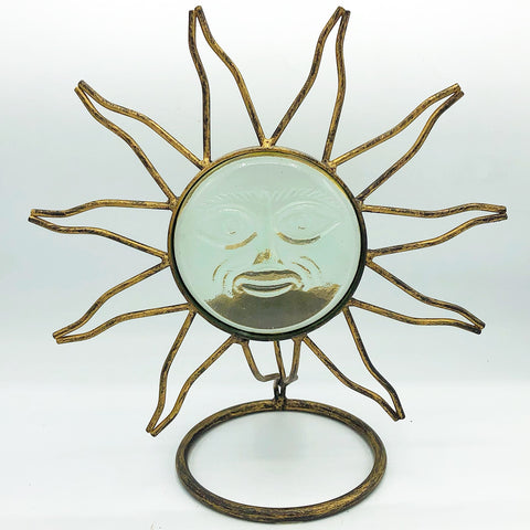 Sun Ray Face Glow Candle Holder