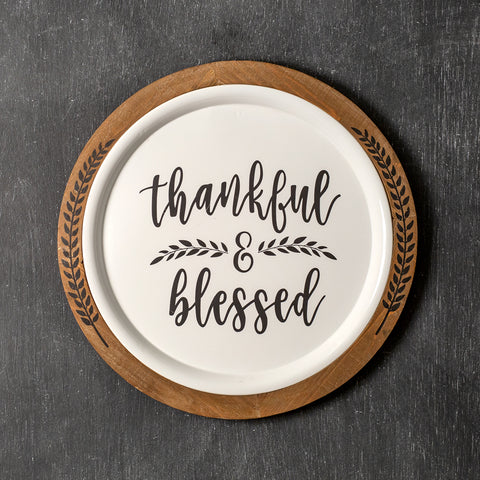 "Thankful & Blessed 20"" Wall Decor"