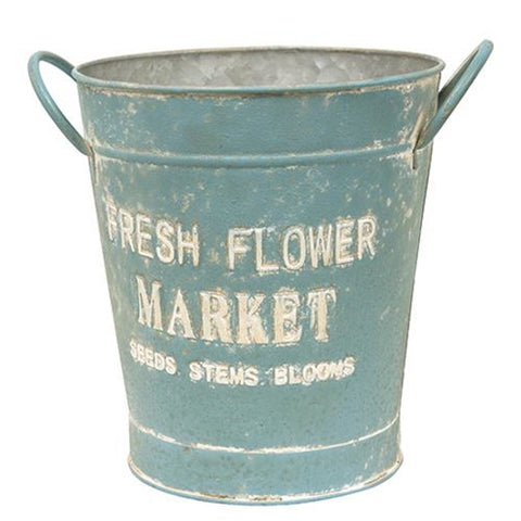 Vintage-style Fresh Flower Market Bucket