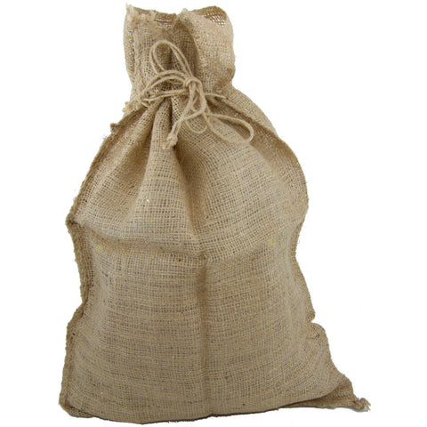 "Burlap Natural Drawstring Sack 16"" x 14"""