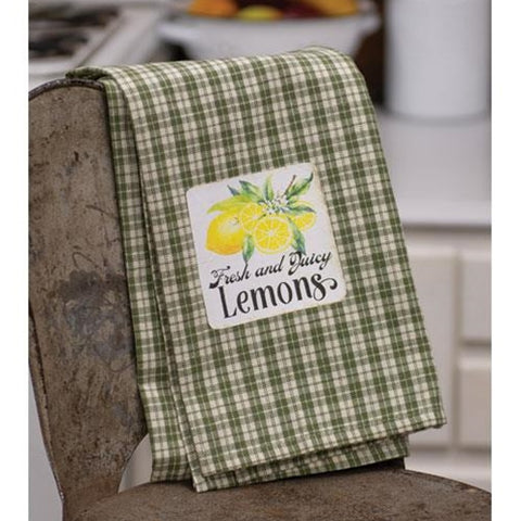 Fresh and Juicy Lemons Dish Towel