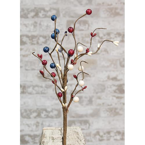Americana Red White and Blue Berry Pick Spray