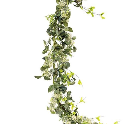 Mixed Queen Ann Heather 4 foot Faux Garland