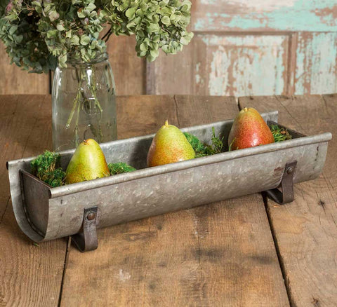 Rustic Decorative Galvanized Metal Feeder Trough
