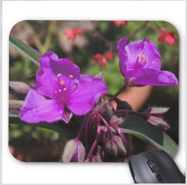 Flower Photo Mousepad - Purple Blooms - Mouse Pad