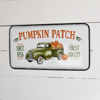 Vintage Pumpkin Patch Truck Sign