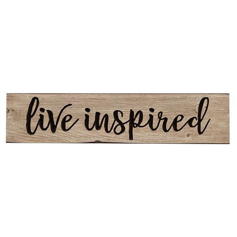 "Live Inspired 24"" Wooden Engraved Sign"