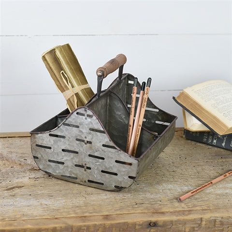 Galvanized Vented Caddy with Handle