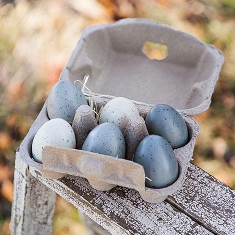 Half Dozen Speckled Eggs in Carton