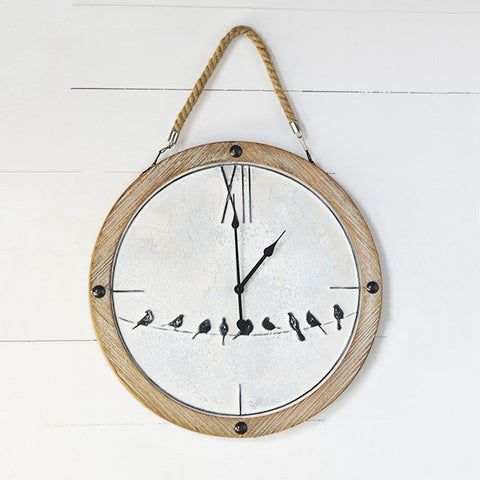 "Birds on a Wire 20"" Wall Clock"