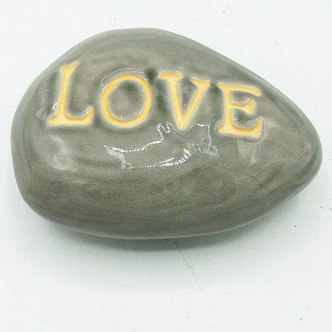 Inspirational LOVE Faux Word Stone