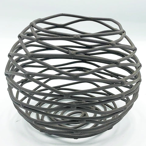 "Metal Twig Nest 4"" Bowl"