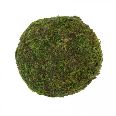"Natural Decorative Green/Brown Moss 3"" Ball"