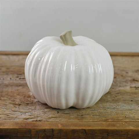 "Ceramic White 6"" Pumpkin"