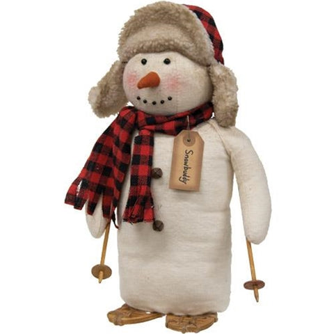 Snowbuddy Snowman Buffalo Check Snow Trekking Plush Figure
