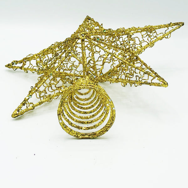 Sparkly Gold Star Tree Topper