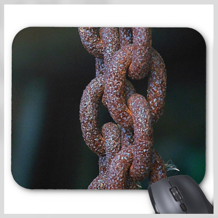 Industrial Mousepad - Rusty Chain - Mouse Pad