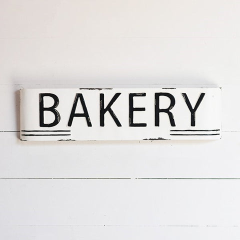 "Bakery Marquis 24"" Rustic Tin Sign"