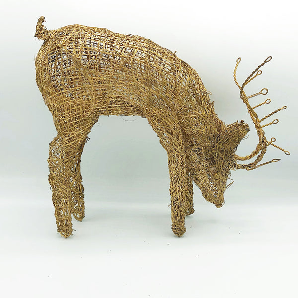 "Gold Sparkle Wire 10"" H Deer"