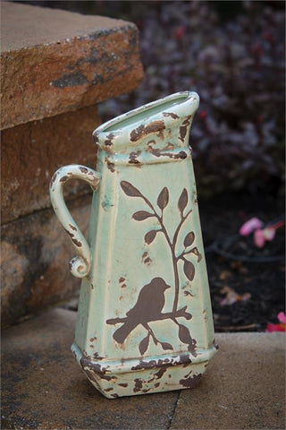 Birds 'n Branches Stoneware Pitcher