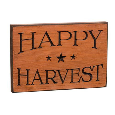 Happy Harvest Engraved Sign