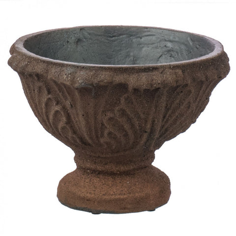 "Leaf Compote Natural Rust Finish 7"" Planter"