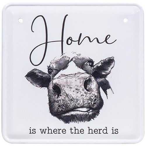 Home is Where the Herd Is Graphic Metal Sign