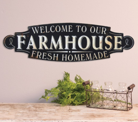 Welcome To Our Farmhouse Metal Sign