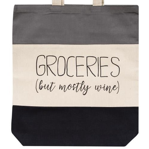 Groceries But Mostly Wine Tote Bag