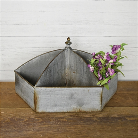 Rustic Hardware Three Bin Caddy Organizer