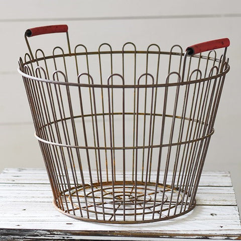 Farmers Market Wire Round Basket