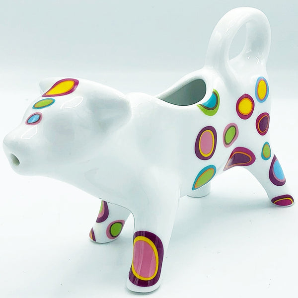 Colorful Dots Cow Ceramic Creamer
