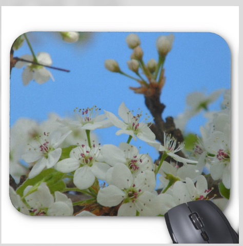 Flower Mouse Pad - Spring Blossoms - mousepad