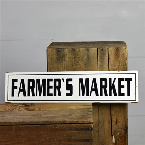 "Farmer's Market 20"" Tin Sign"