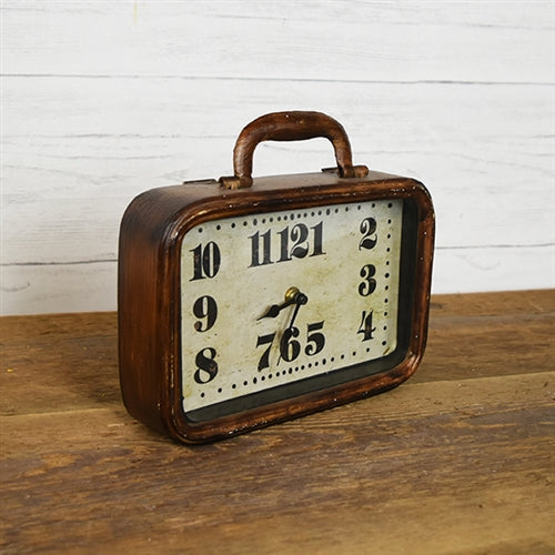 Vintage-inspired Suitcase Tabletop Clock